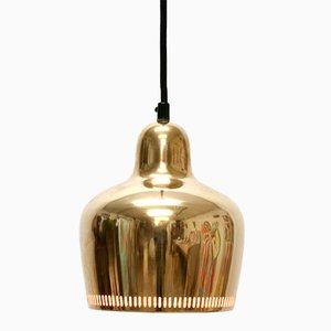 Vintage A330S Golden Bell Ceiling Lamp by Alvar Aalto for Artek