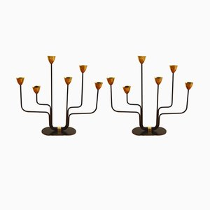 Large Candelabras by Gunnar Ander for Ystad Metall, 1950s, Set of 2