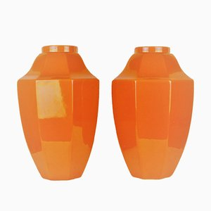 Ceramic Vases from Boch Freres La Louvière, 1930s, Set of 2