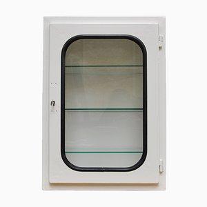 Small White-Lacquered Medicine Cabinet, 1970s