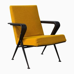 Dutch Yellow Lounge Chair by Friso Kramer for Ahrend de Cirkel, 1960s