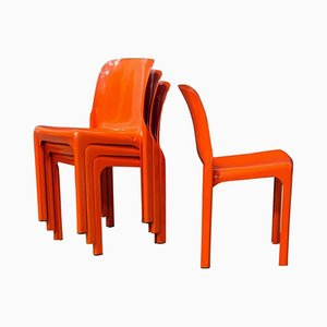 Selene Chairs by Vico Magistretti for Artemide, 1969, Set of 4