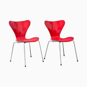 Model 3107 Butterfly Chairs by Arne Jacobsen, 1955, Set of 2