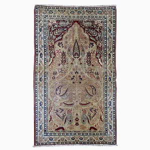 Antique Persian Kerman lavar Rug, 1880s