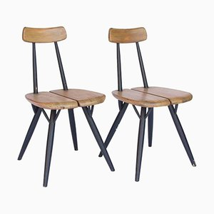 Pirkka Stühle von Ilmari Tapiovaara für Laukaan Puu, 1955, 2er Set