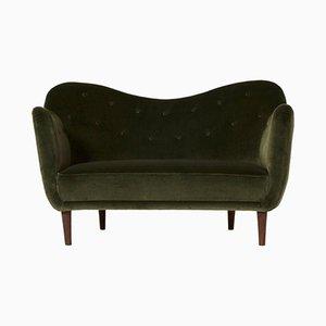 Mid-Century Curved BO64 Sofa by Finn Juhl for Bovirke