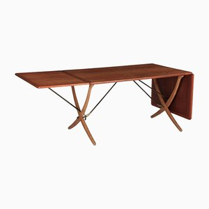 AT-304 Sabre-Leg Dining Table by Hans Wegner for Andreas Tuck, 1960s