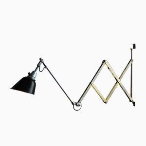 Vintage Model 112 Large Scissor Lamp by Curt Fischer for Midgard/ Industriewerke Auma