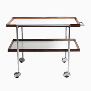 Serving Trolley in Rosewood & Fomica by Poul Nørreklit for E.Pedersen and Son, 1960s