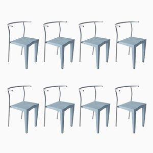 Französische Vintage Stühle von Philippe Starck für Kartell, 1980er, 8er Set