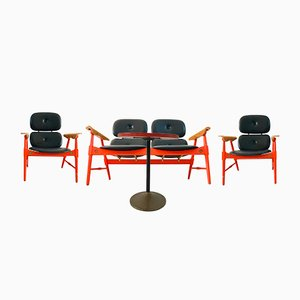 Groupe d'Assises avec Table Basse de Poltronova, 1970s
