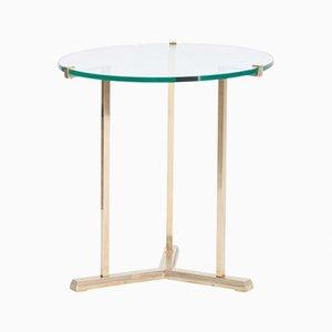 Tavolino rotondo vintage in ottone di Peter Ghyczy