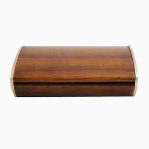 Austrian Modernist Walnut Storage Box by Carl Auböck, 1950s