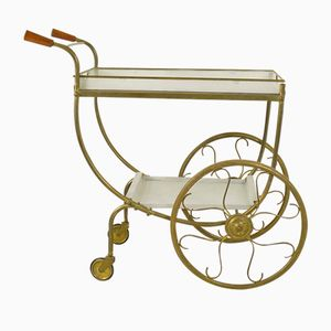 French Brass Serving Trolley, 1960s