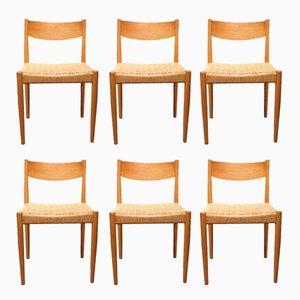 Esszimmerstühle aus Eiche von Poul M. Volther für Frem Røjle, 1960er, 6er Set