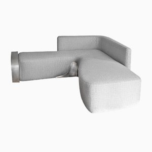 Moon Couch in Silvered Brass & Misia Fabric by SORS Privatiselectionem, 2017
