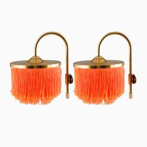 V271 Wandlampen mit Fransen von Hans-Agne Jakobsson für Hans-Agne Jakobsson AB Markaryd, 1960er, 2er Set
