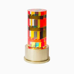 Round DNA Cast Acrylic Lamp by Studio Superego