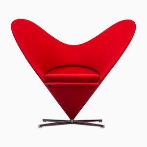 Mid-Century Heart Cone Chair by Verner Panton for Vitra, 1950s