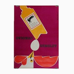 Schweizer Vintage Plakat von Hans Peter Sommer