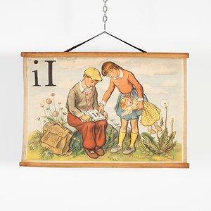 Buchstabe I Alphabet Plakat, 1970er