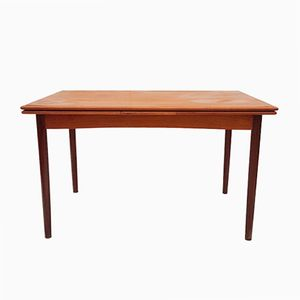 Extendable Flip-Top Teak Dining or Game Table by Poul Hundevad for Dogvad, 1960s