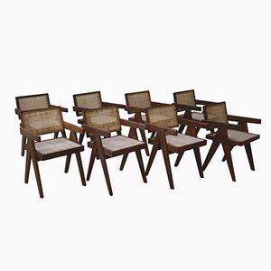 Bürostühle von Pierre Jeanneret, 1955, 8er Set