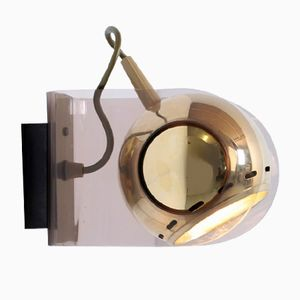 Vintage Model 540 Brass Colored Globe Wall Light by Gino Sarfatti for Arteluce