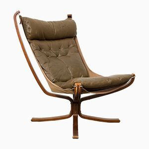 High Back Falcon Chair by Sigurd Ressell for Vatne, 1970s