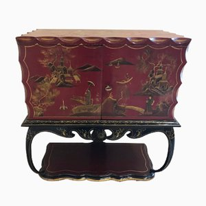 Chinoiserie Bar Cabinet, 1940s