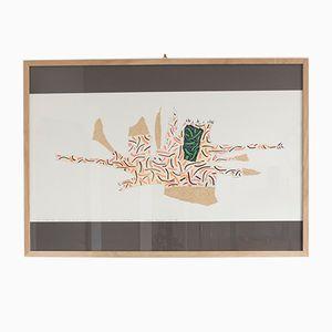 Imprimé Reconstruction Théorique d'un Objet Imaginaire par Bruno Munari pour Danese, 1988