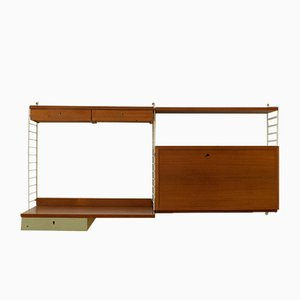 "Wall Unit by Kajsa & Nils ""Nisse"" Strinning for String, 1950s"