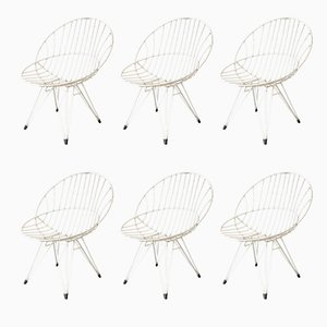Combex Wire Chairs by Cees Braakman for Pastoe, 1950s, Set of 6