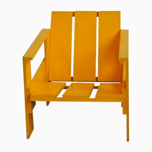 Vintage Crate Chair by Gerrit Thomas Rietveld for Metz & Co, 1950s