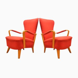 Vintage Dutch Lucie Wingback Chair by Cees Braakman for Pastoe, Set of 2