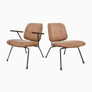 Vintage Industrial Lounge Chairs by W.H. Gispen for Kembo, Set of 2
