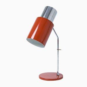 Lampe de Bureau Rouge Vintage par Josef Hurka pour Napako, 1970s