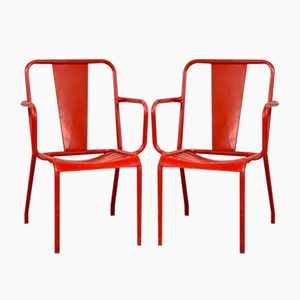 T4 Chairs from Tolix, 1950s, Set of 4