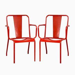 T4 Stühle von Tolix, 1950er, 4er Set