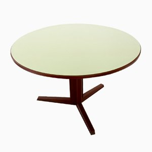 Round Mahogany & Formica Dining Table, 1970s
