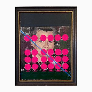 Woman with Dots & Stripe Ölmalerei von Markus Friedrich Staab, 2017