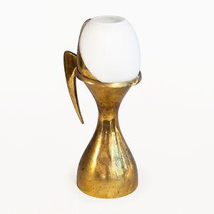 Mid-Century Diavolo Tischlampe aus Messing von Max Ingrand für Fontana Arte