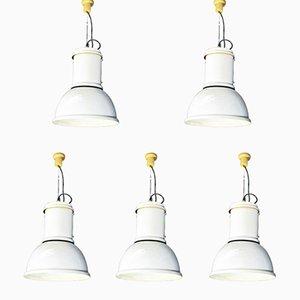 Modell Lampara Hängelampen von Fontana Arte, 1970er, 5er Set