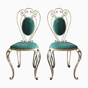 Vintage Golden Iron Chairs, Set of 2