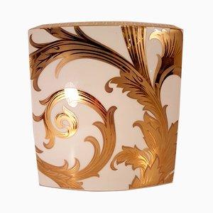 Arabeske Vintage Vase mit Goldener Fayence von Versace für Rosenthal