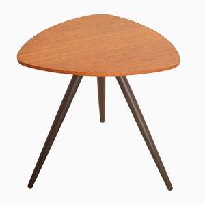 Vintage Scandinavian Tripod Side Table in Teak