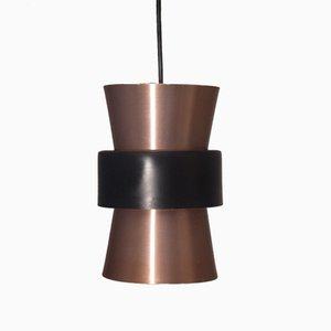 Petite Lampe à Suspension Vintage en Cuivre, Danemark