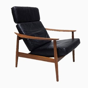 FD164 Lounge Chair by Arne Vodder for France & Son, 1960s