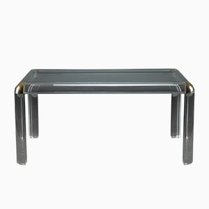 Italian Plexiglass Table, 1970s
