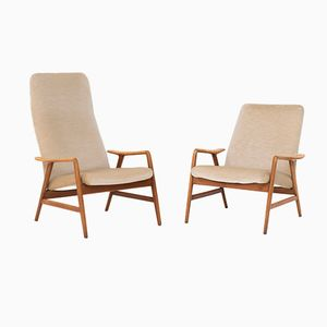 Easy Chairs by Folke Ohlsson for Dux and Artifort, 1960s, Set of 2